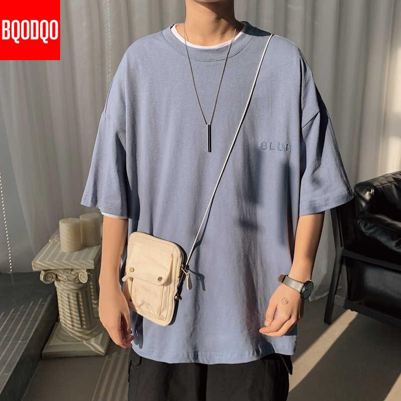 男性の綿のファッションtシャツメンズ夏黒tシャツ 5XLハーフカジュアルsoild tシャツtシャツ男特大トップス & ストリートウェア