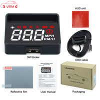 Nieuwe Collectie A100S Auto HUD Head Up Display OBD2 EUOBD Overspeed Waarschuwing Auto Elektronische Voltage Alarm Beter Dan A100 HUD