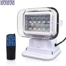 12/24v 50w 360 degree Rotate Spotlight Marine Led searchlight for Off road truck 4x4 boats