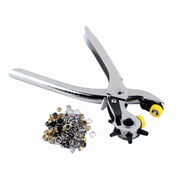 цена на Multifunction Portable Heavy Duty Leather Hole Punch Watch Band Hand Pliers Belt Holes Punches Puncher Tool Eyelet