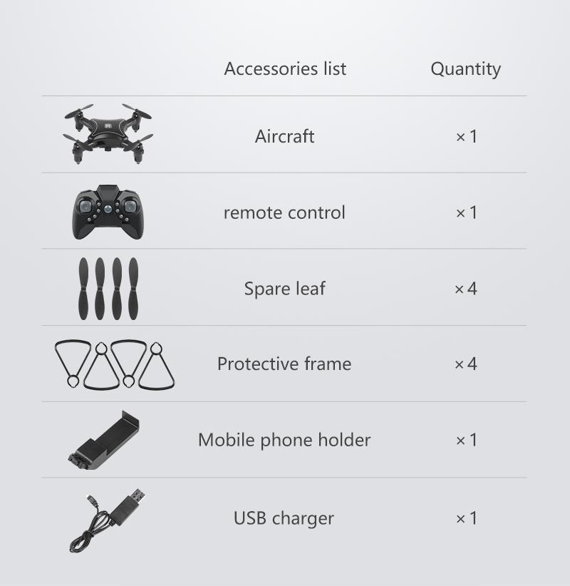 XKJ KY902 Mini Drone Quadcopter con cámara 4K HD 20
