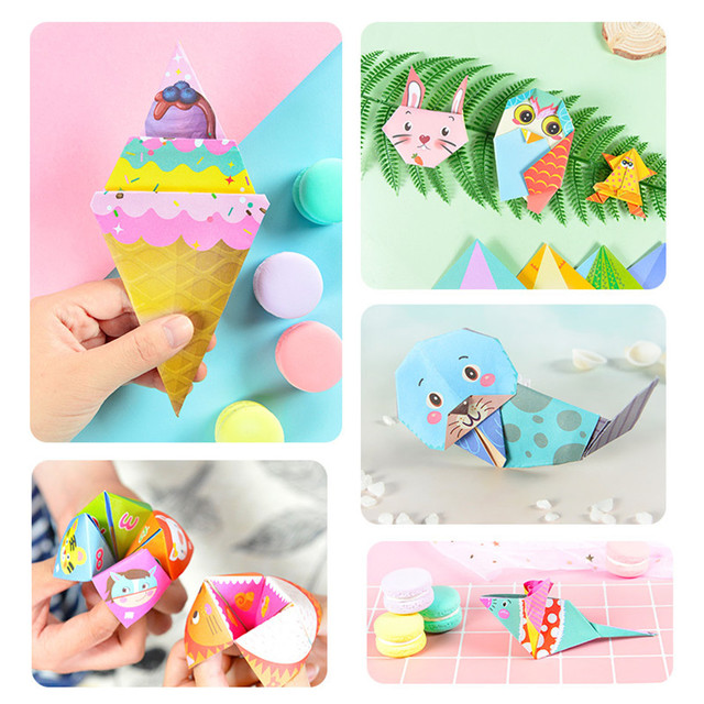 152Pcs/set DIY Educational Origami Paper Cutting Book Crafts Children Handmade Toys Kindergarten Fun Puzzle Baby Kids Toy Gifts 3
