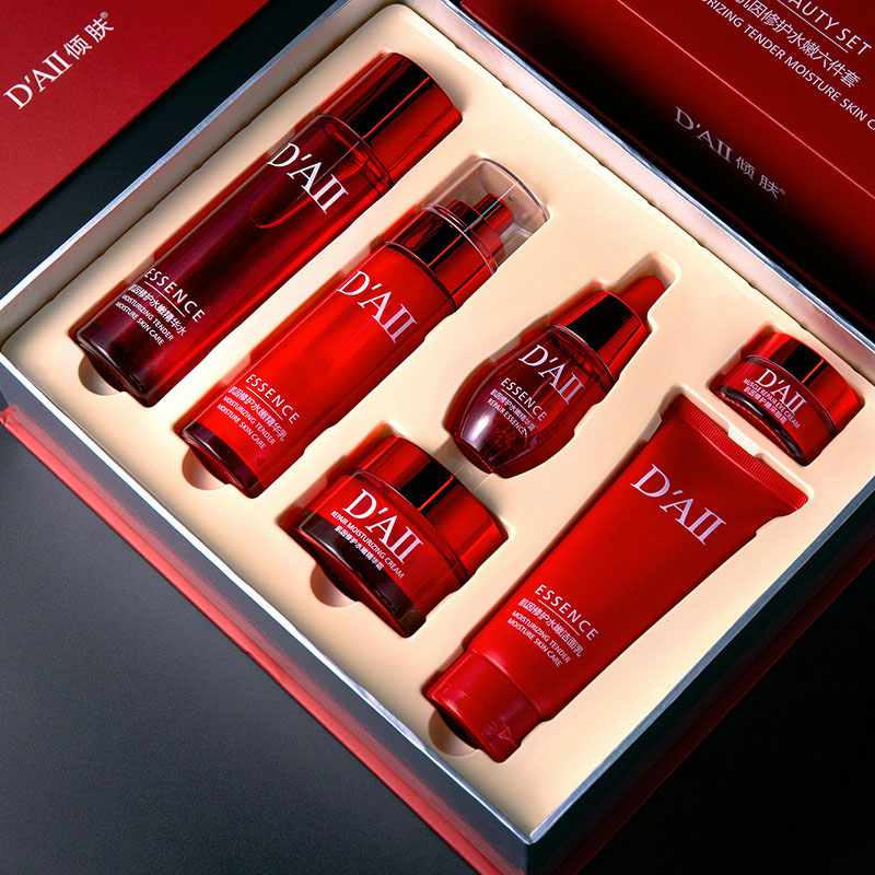 Skin Care Set Face Toner Essence Eye Cream Lotion Facial Cleanser Serum Nicotinamide Nourish Anti-Aging Cosmetics Kit Women M