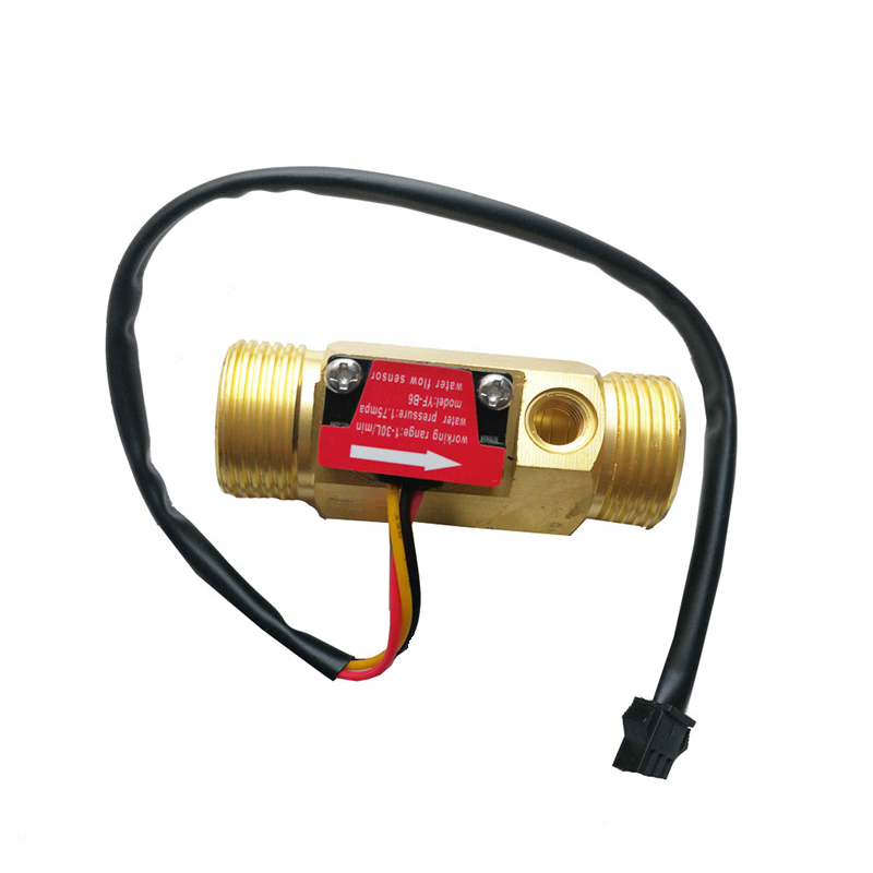 G3/4 Flow Sensor Water Flow Sensor Switch For Flow Meter Water Sensor Copper Shell Hall Flow Meter With Temperature Tool