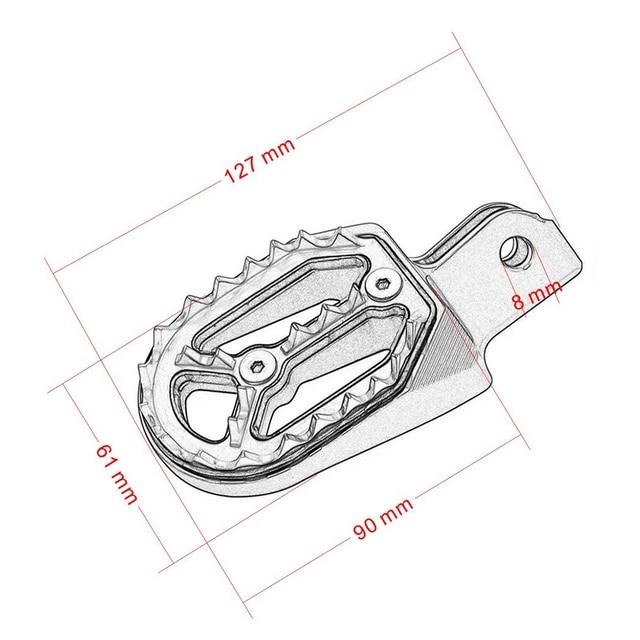 Aluminum CNC Motocross Dirt Pit Bike Foot Peg Pedal Footpegs Footrest For Honda CRF230F 2005 - 2015 CRF230 L CRF230L 2003-2009