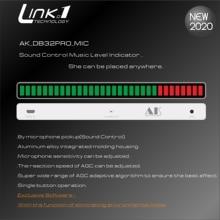 LINK1 サウンドコントロール音楽レベルインジケータオーディオ音楽スペクトルボード agc ため MP3 vu メーターアンプスピーカー DC5V