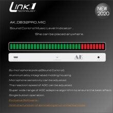 LINK1 indicador de nivel de música, Control de sonido, tablero de espectro de música de Audio AGC para amplificador de Medidor de VU MP3, altavoz DC5V