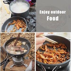 Image 5 - Pentole da campeggio di qualità set di pentole da esterno stoviglie da campeggio set da cucina stoviglie da viaggio posate utensili escursionismo set da picnic