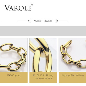 Image 5 - VAROLE سلسلة الإناث سوار الذهب اللون أساور للنساء مجوهرات هدايا Noeud شارة Pulseiras
