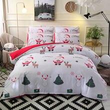 Рождественский мультяшный Комплект постельного белья с пододеяльником