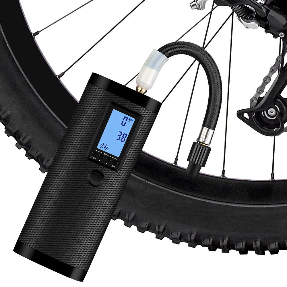 Pompe à vélo électrique portative pompe à vélo d'air Mini gonfleur électrique 4000mAh pompe à Air Rechargeable pour les balles de sport de voiture automatique