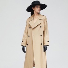 2020 New Spring Long Trench coat women Fashion Classic Double Breasted Belt High quality Trench coat Casual Business Outerwear new arrival autumn trench coat women loose clothing outerwear high quality double breasted women hooded long coat