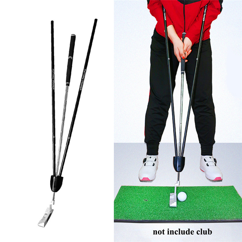 Golf Putter Trainer Putting Gesture Assist Batting Force Angle Action Golf Putter Training Aids