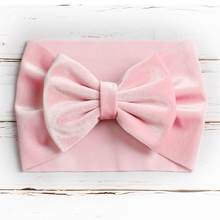 9pcs/lot 5inch Velvet Hair Bow Headband Knot Bow Headwrap Baby Girl Hair Accessory(China)