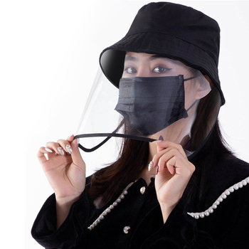 Transparent Face Shield Splash-proof Full Face Mask Anti-Fog Anti-Droplets Child Adult Hat Reusable Visual Protection
