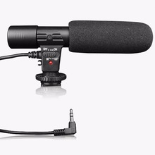 Professional Condenser Microphone 3.5mm Recording Microphone Interview Mic for DSLR Camera Video DV Camcorder Drop Shipping