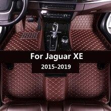 Esteiras do assoalho do carro para jaguar xe sedan 2015 2016 2017 2018 2019 personalizado pé almofadas