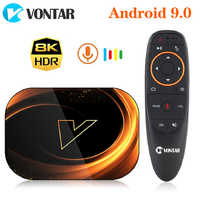 VONTAR X3 4GB 128GB 8K Amlogic S905X3 Smart TV BOX Android 9.0 Dual Wifi 1080P 4K Youtube Set Top Box 4GB 64GB 32GB