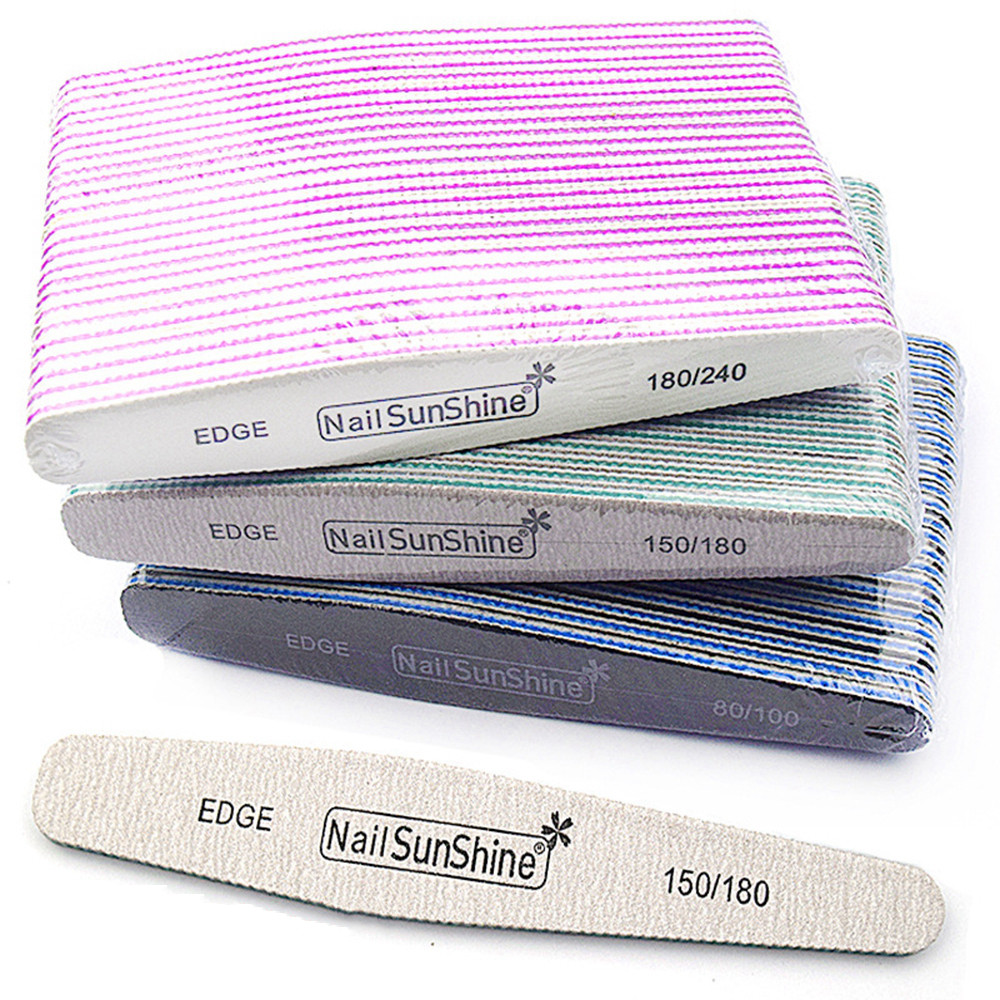 1PC Professional Double Sided Nail Files Block Sponge Grit Sanding Pedicure Manicure Nail Care Nail Art Beauty Tools Whosale