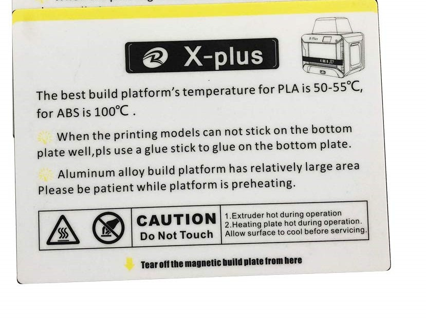 Bed Sticker for QIDI TECH X-Plus 3D Printer  1pcs kit