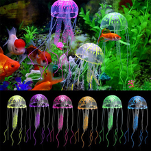 Artificial Jellyfish Lovely Silicone Aquarium sdecoration Fish Tank Decoration Accessorie D40