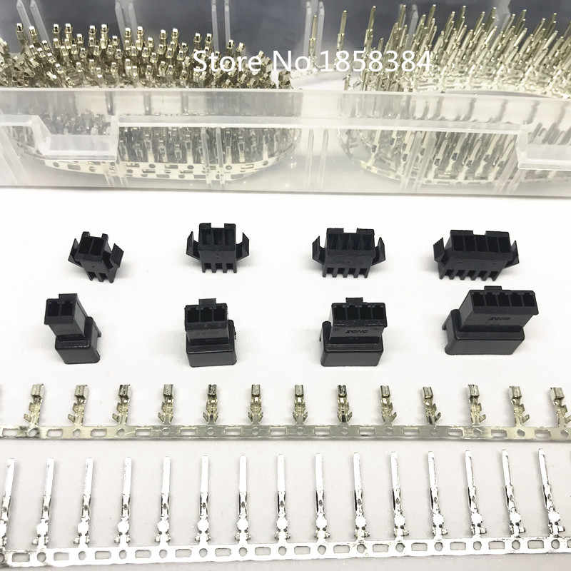 NEW 2,5mm Pitch 2 3 4 5 pin JST SM Connector Plug and Connector Plug...