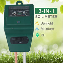 3 em 1 medidor de solo umidade ph luz solar testador flores kits planta iluminância analisador medidor luz ferramenta planta 20% de desconto