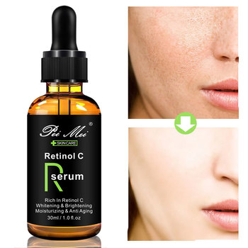 Retinol C Whitening Face Serum Vitamin C Brighten skin Anti-Wrinkle Anti Aging Remove Acne Lifting Firming Moisturizing Essence spa protein essence facia moisturizing repair brighten skin firming anti wrinkle face lifting beauty salon cosmetics wholesale