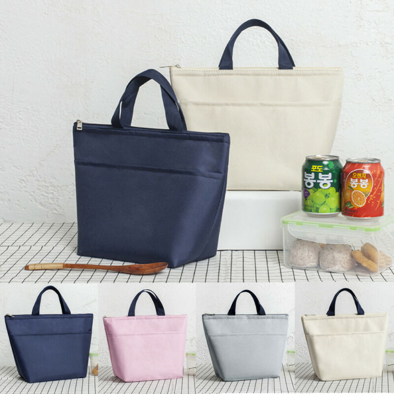 Portable Lunch Bag Insulation Thermal Waterproof Oxford Food Container Tote Handbag Lunch Bags Picnic Bags School Food Lunchbox