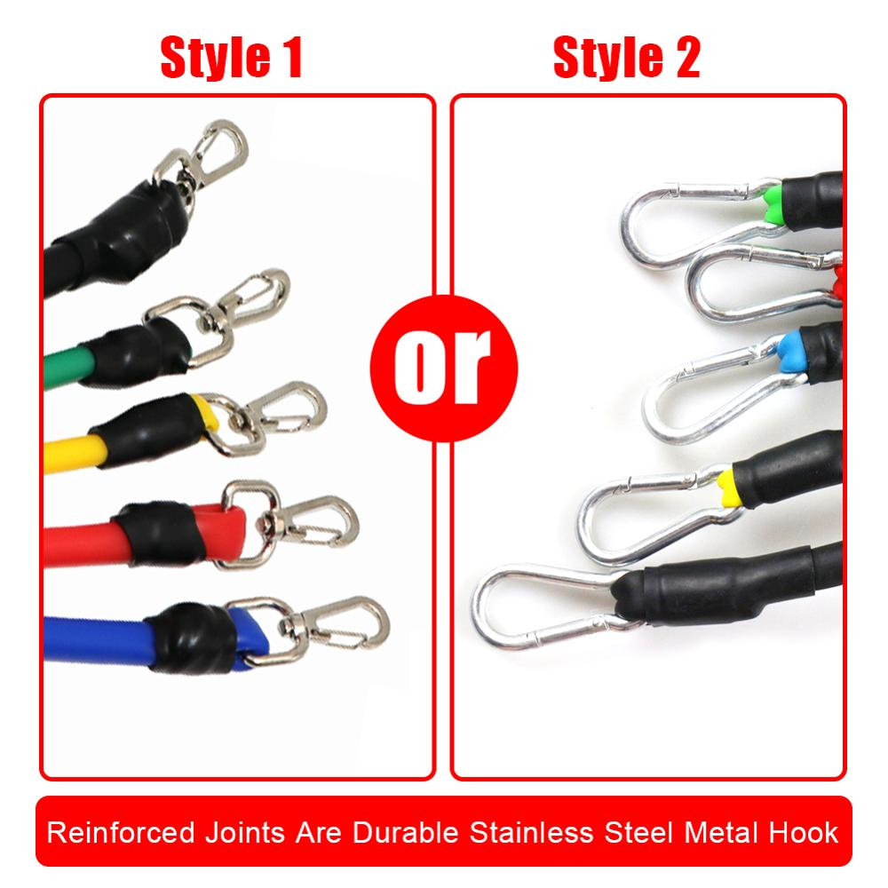17 Pcs/Set Latex Resistance Bands Crossfit Training Exercise Yoga Tubes Pull Rope,Rubber Expander Elastic Bands Fitness with Bag 1