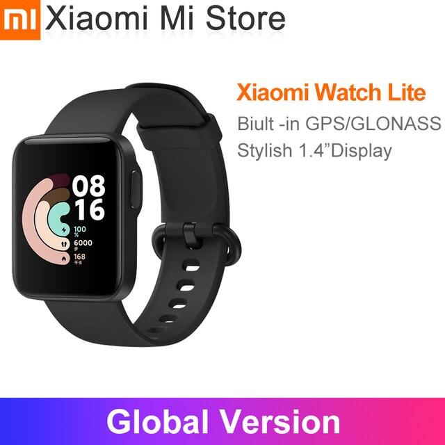 "Global Version Xiaomi Mi Watch Lite GPS Bluetooth 5.1 Smart Band Sports Fitness Heart Rate Monitor 1.4"" TFTLCD Screen"