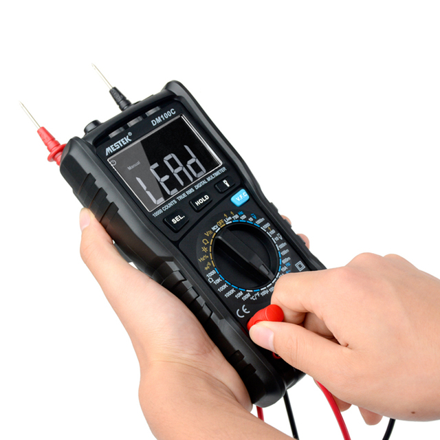 MESTEK DM100C 10000 Counts True RMS Digital Multimeter Measuring AC/DC Voltage Current Resistance Capacitance Frequency
