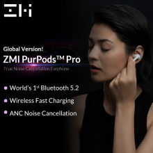 ZMI PurPods Pro-auriculares inalámbricos con Bluetooth 5,2, dispositivo de audio intrauditivo, ANC, 3Mic, antiruido, impermeable, versión Global