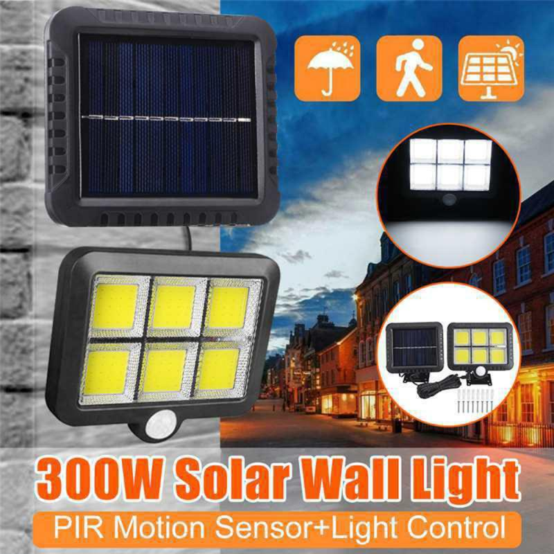 2019 NEW 120 LED Solar Light PIR Motion Sensor Split Outdoor Garden Wall Light