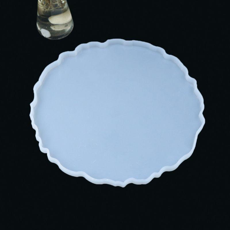 33,5 х 33 см большой нерегулярные фруктов диск большая тарелка с украшением в виде кристаллов эпоксидная смола, форма круглый поднос Литья Сил...