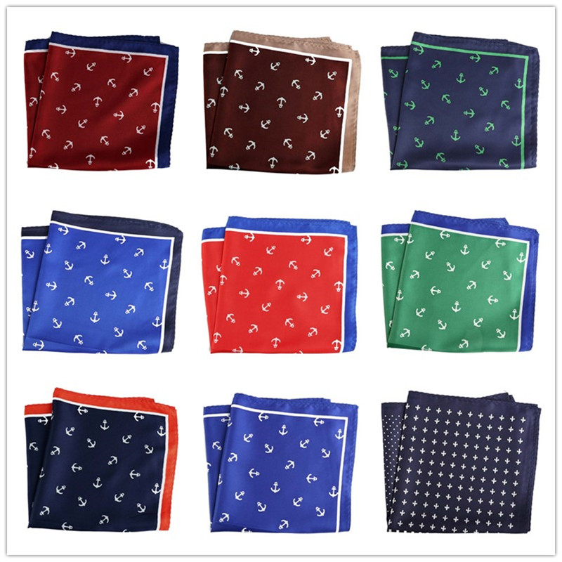 34 Colors  Men's Handkerchief Polyester Pocket Square Printed Floral Hankies Hanky  Business  Wedding Party 32*32CM PH106-140