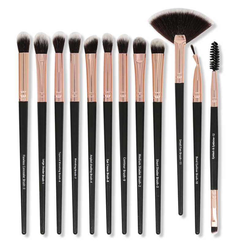 S'AGAPO5/12 stücke Lidschatten Make-Up Pinsel Set Eyeliner Augenbrauen Wimpern Concealer Highlight Professionelle Auge Schönheit Make-Up Pinsel