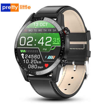 Nuovo L13 Astuto Della Vigilanza Degli Uomini di IP68 Impermeabile ECG PPG Bluetooth Chiamata di Pressione Sanguigna Frequenza Cardiaca Inseguitore di Fitness sport Smartwatch