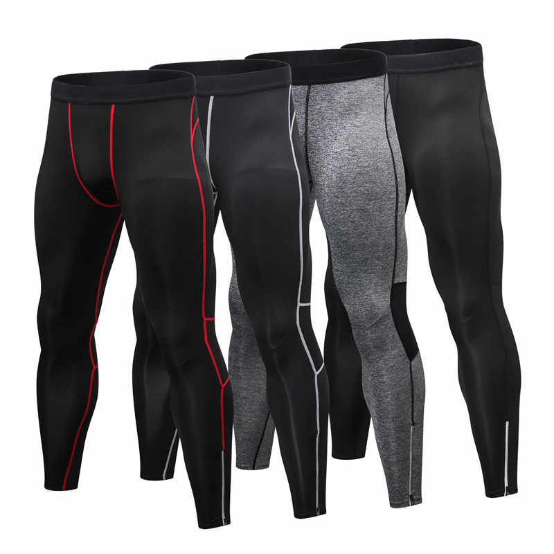 2019 Mannen Gym Leggings Nieuwe Mannen Running Tights Broek Sportkleding Quick Dry Ademende Pro Compressie Fitness Athletic Broeken XXL