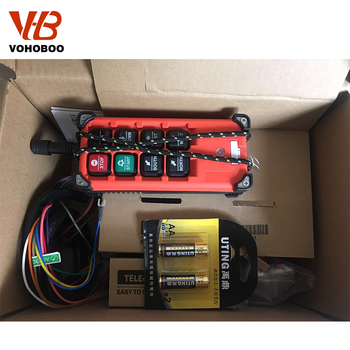 цена на Industrial remote switches Hoist industrial Direction wireless Crane Radio Remote System switch F21-E1B