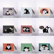 Я + люблю + котенок + карман + милый + косметика + макияж + сумка + дорожная + молния + косметика + карандаш + кошелек + органайзер + сумка + кошелек + сумочка