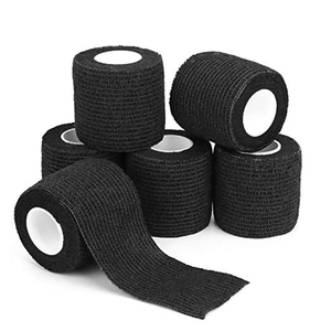 Image 5 - 6pcs Tattoo bandage roll self adherent cohesive tape sports tape wrist self adhesive for tattoo cover accessories black color