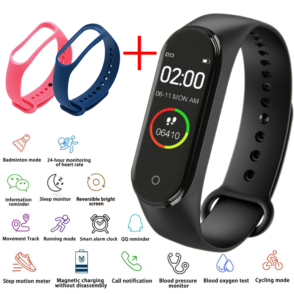 Men Electronic Watch Women's Heart Rate Monitor Bluetooth Waterproof Message Call Reminder Pedometer Kids Watches Android IOS