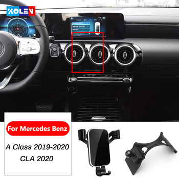 Car Mobile Phone Holder For Mercedes Benz A Class W177 CLA C118 W118 CLA250 220 A180 A200 AMG GPS Air Vent Mount Bracket Stand image