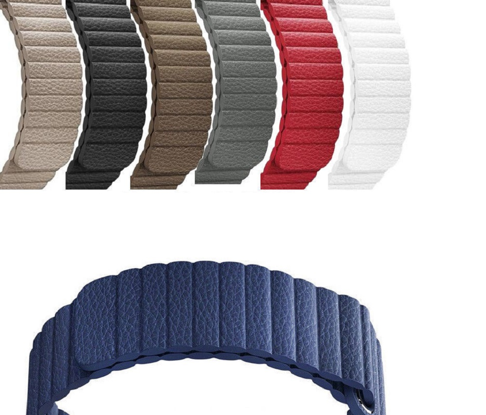 <font><b>Leather</b></font> Loop Watchband 20mm 22mm for <font><b>Samsung</b></font> Galaxy Watch 42mm <font><b>46mm</b></font> SM-R810/R800 Active 2 40mm 44mm Magnetic Band Wrist Strap image