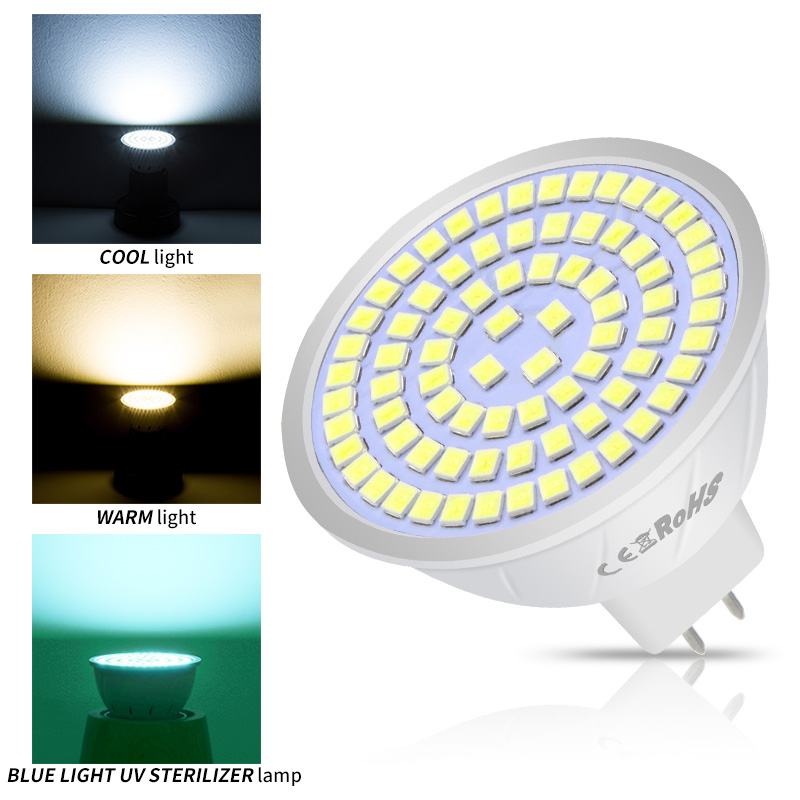 220V GU10 LED Bulb E27 Spotlight MR16 Lamp GU5.3 Light Bulb Germicidal UV Lamp Sterilizer B22 Bombillas Led E14 Gu 10 5W 7W 9W