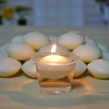 Искусство рукодельные свечи изготовление фитилей 10 шт./компл. романтические круглые свечи плавающий Floater Свадебная вечеринка домашний декор белый