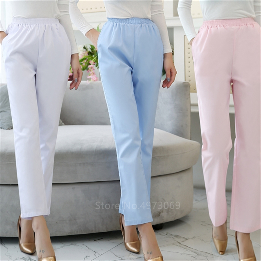Medical Unform Scrubs Pants Work Trouser Doctor Nurse Uniform Women Dental Plus Size Nursing Pocket Pants Clinic Female Hospital