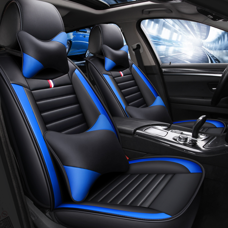 VAUXHALL MERIVA ALL MODELS BLACK SPORT SEAT COVERS WITH BLUE PIPING