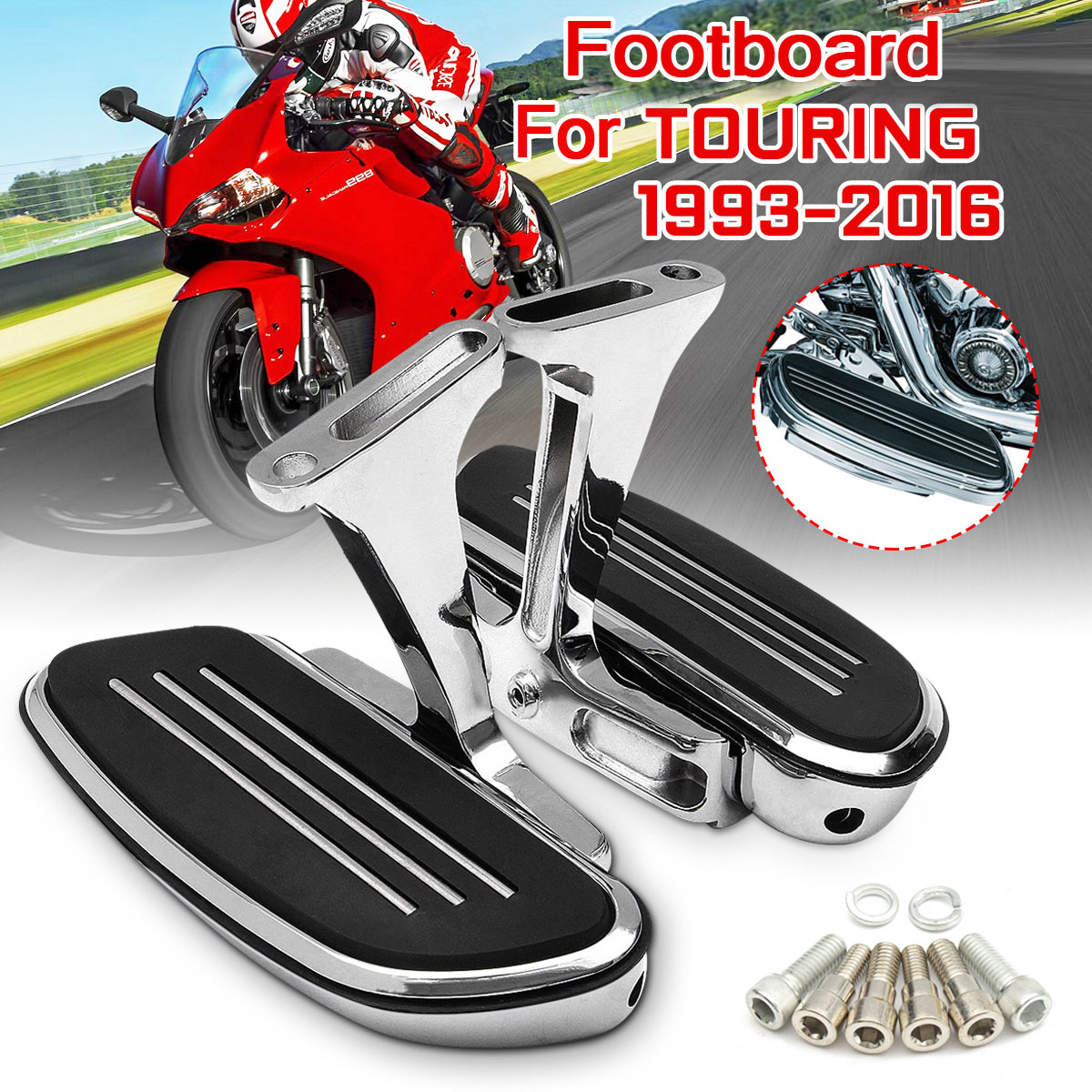 Passenger Foot Pegs Footrest Mount Bracket For Harley Touring Road King 1993-Up